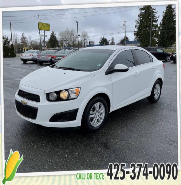 2016 Chevrolet Sonic for sale at Corn Motors in Everett WA