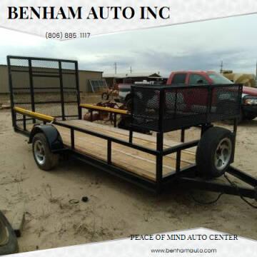 14x6 foot Utility Trailer for sale at BENHAM AUTO INC - Benham Auto Trailers in Lubbock TX
