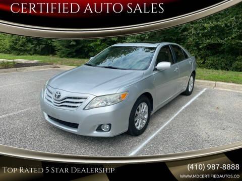 2010 Toyota Camry for sale at CERTIFIED AUTO SALES in Severn MD