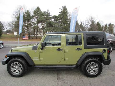 2013 Jeep Wrangler Unlimited for sale at GEG Automotive in Gilbertsville PA