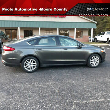 2016 Ford Fusion for sale at Poole Automotive -Moore County in Aberdeen NC