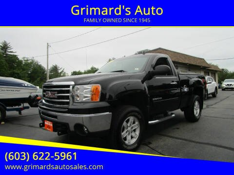 2013 GMC Sierra 1500 for sale at Grimard's Auto in Hooksett NH