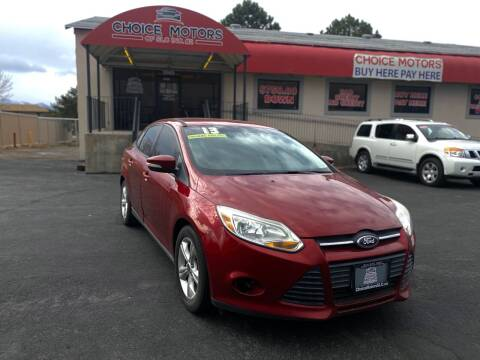 2013 Ford Focus for sale at Choice Motors of Salt Lake City in West Valley City UT