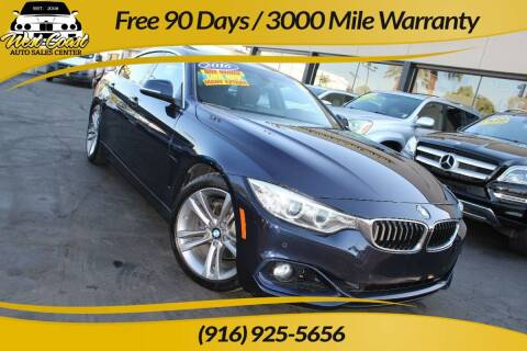 2016 BMW 4 Series for sale at West Coast Auto Sales Center in Sacramento CA
