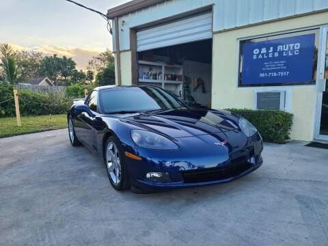 2007 Chevrolet Corvette for sale at O & J Auto Sales in Royal Palm Beach FL