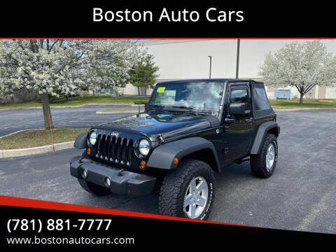 2012 Jeep Wrangler for sale at Boston Auto Cars in Dedham MA