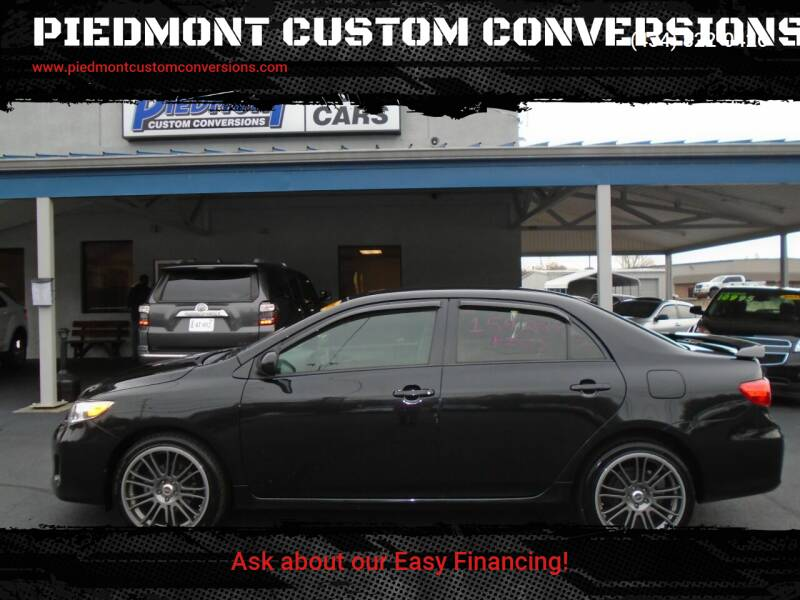 2011 Toyota Corolla for sale at PIEDMONT CUSTOM CONVERSIONS USED CARS in Danville VA
