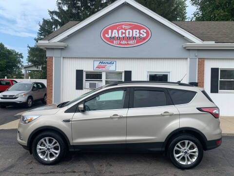 2018 Ford Escape for sale at Jacobs Motors LLC in Bellefontaine OH