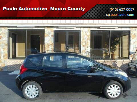 2016 Nissan Versa Note for sale at Poole Automotive in Laurinburg NC
