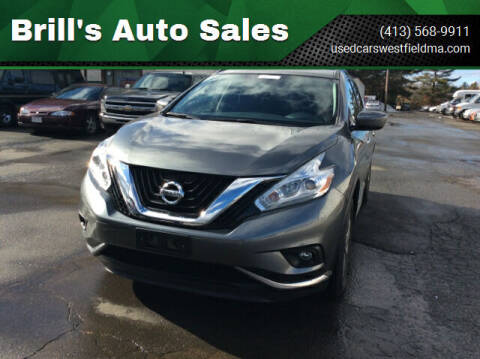 2016 Nissan Murano for sale at Brill's Auto Sales in Westfield MA