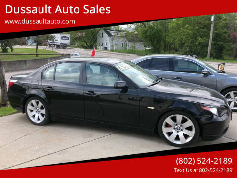 2004 BMW 5 Series for sale at Dussault Auto Sales in Saint Albans VT