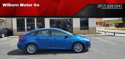 2018 Ford Focus for sale at Wilborn Motor Co in Fort Worth TX