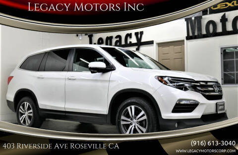 2018 Honda Pilot for sale at Legacy Motors Inc in Roseville CA