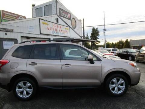 2016 Subaru Forester for sale at G&R Auto Sales in Lynnwood WA