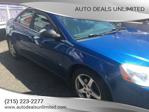 2007 Pontiac G6 for sale at AUTO DEALS UNLIMITED in Philadelphia PA