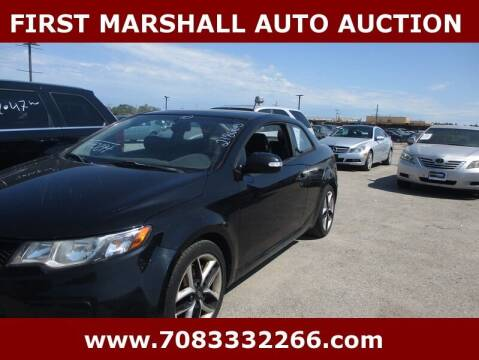2010 Kia Forte Koup for sale at First Marshall Auto Auction in Harvey IL