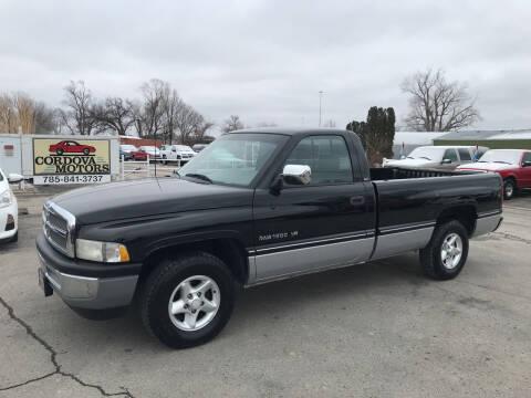 1996 Dodge Ram Pickup 1500 for sale at Cordova Motors in Lawrence KS