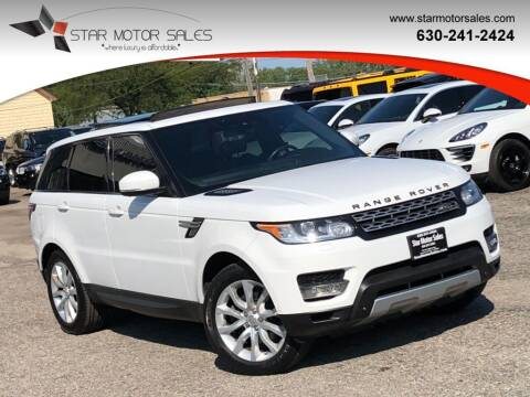 2014 Land Rover Range Rover Sport for sale at Star Motor Sales in Downers Grove IL