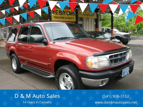 2001 Ford Explorer for sale at D & M Auto Sales in Corvallis OR