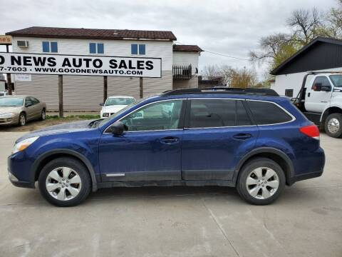 2011 Subaru Outback for sale at GOOD NEWS AUTO SALES in Fargo ND