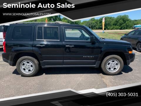 2013 Jeep Patriot for sale at Seminole Auto Sales in Seminole OK