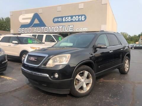 2010 GMC Acadia for sale at Sedo Automotive in Davison MI