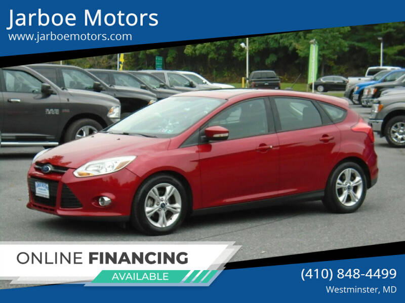 2012 Ford Focus for sale at Jarboe Motors in Westminster MD