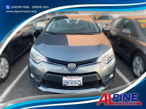 2015 Toyota Corolla for sale at Alpine Motors in Van Nuys CA