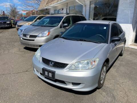 2005 Honda Civic for sale at ENFIELD STREET AUTO SALES in Enfield CT