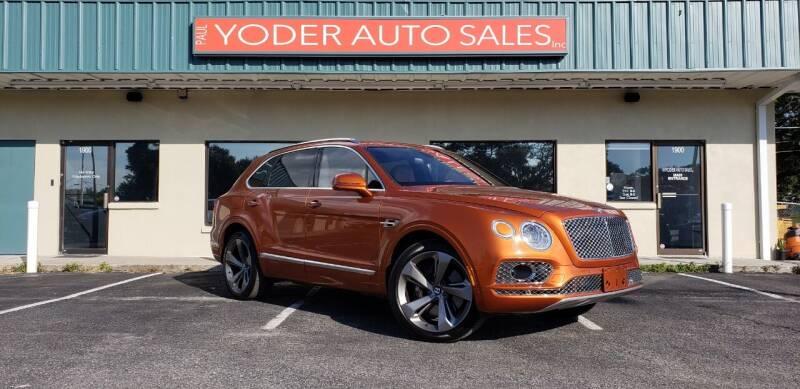 2017 Bentley Bentayga for sale at PAUL YODER AUTO SALES INC in Sarasota FL