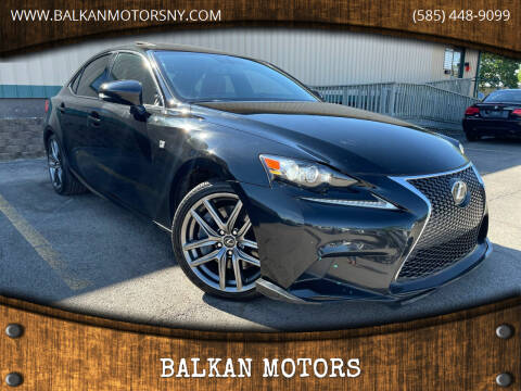 2016 Lexus IS 300 for sale at BALKAN MOTORS in East Rochester NY