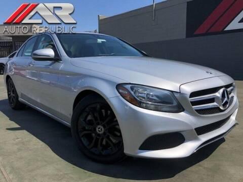 2018 Mercedes-Benz C-Class for sale at Auto Republic Fullerton in Fullerton CA