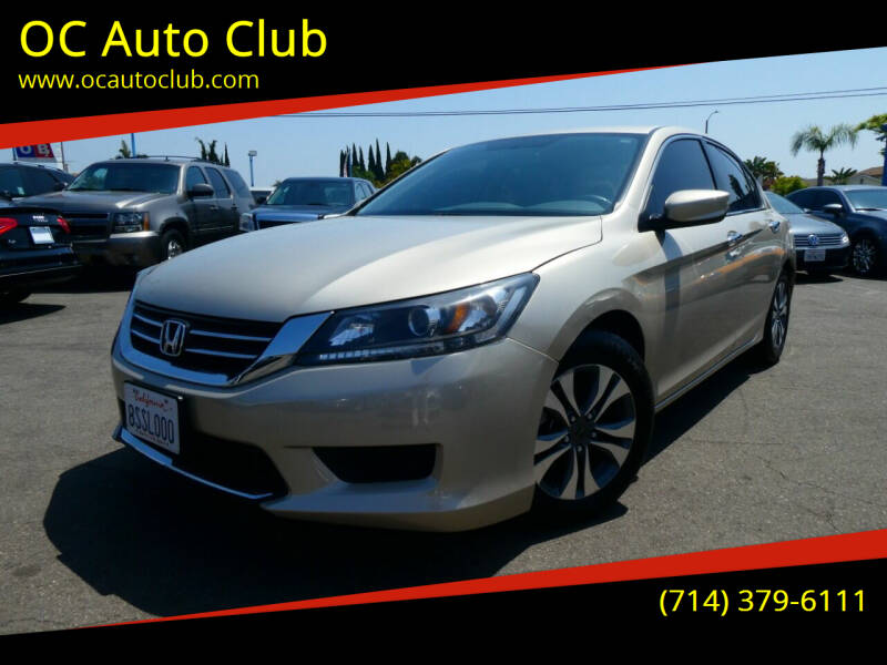 2013 Honda Accord for sale at OC Auto Club in Midway City CA