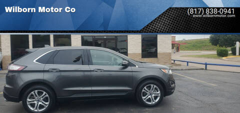 2018 Ford Edge for sale at Wilborn Motor Co in Fort Worth TX
