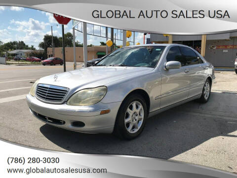 2002 Mercedes-Benz S-Class for sale at Global Auto Sales USA in Miami FL