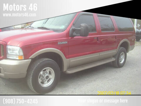 2003 Ford Excursion for sale at Motors 46 in Belvidere NJ