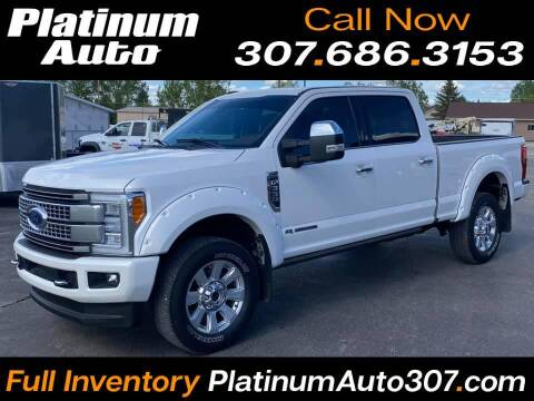2018 Ford F-350 Super Duty for sale at Platinum Auto in Gillette WY
