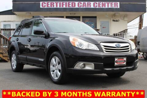 2011 Subaru Outback for sale at CERTIFIED CAR CENTER in Fairfax VA
