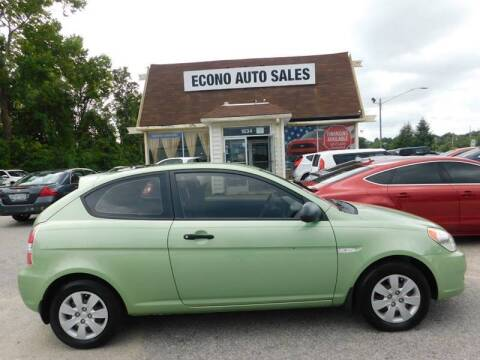 2009 Hyundai Accent for sale at Econo Auto Sales Inc in Raleigh NC