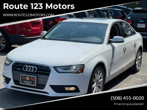 2013 Audi A4 for sale at Route 123 Motors in Norton MA