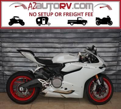 2015 Ducati 899 Panigale White for sale at AZautorv.com in Mesa AZ
