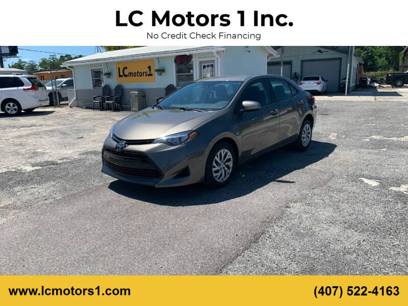 2017 Toyota Corolla for sale at LC Motors 1 Inc. in Orlando FL
