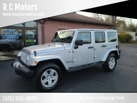 2011 Jeep Wrangler Unlimited for sale at R C Motors in Lunenburg MA