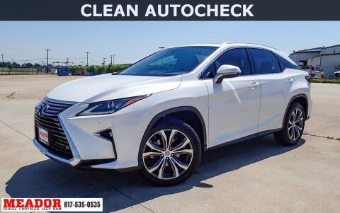 2017 Lexus RX 350 for sale at Meador Dodge Chrysler Jeep RAM in Fort Worth TX