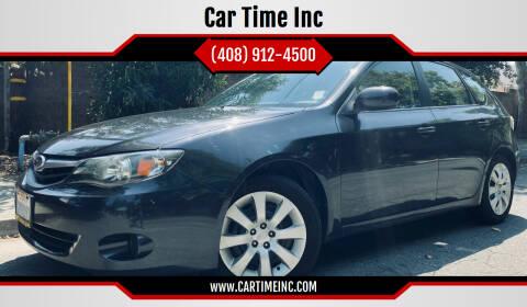 2010 Subaru Impreza for sale at Car Time Inc in San Jose CA