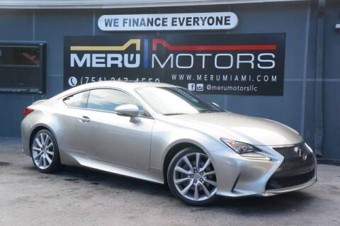 2015 Lexus RC 350 for sale at Meru Motors in Hollywood FL