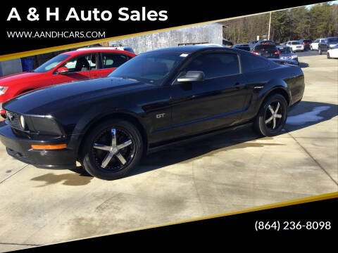 2006 Ford Mustang for sale at A & H Auto Sales in Greenville SC