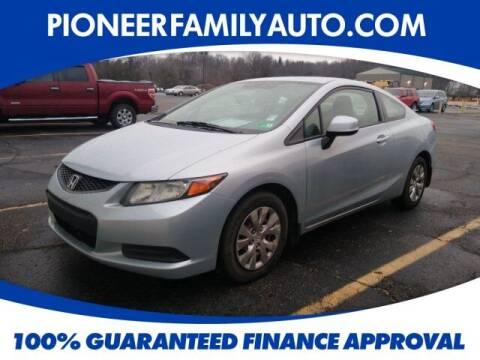 2012 Honda Civic for sale at Pioneer Family auto in Marietta OH