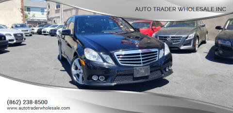 2010 Mercedes-Benz E-Class for sale at Auto Trader Wholesale Inc in Saddle Brook NJ