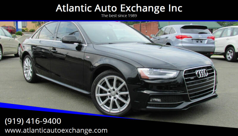 2016 Audi A4 for sale at Atlantic Auto Exchange Inc in Durham NC